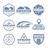 Cinza da etiqueta da navegação Imagens de Stock