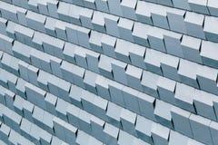 Cinza da geometria da parede Foto de Stock
