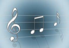 Cinza da música Fotografia de Stock Royalty Free