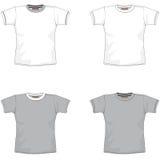 Cinza do t-shirt de Balnk Fotografia de Stock