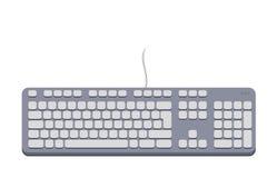 Cinza do teclado de computador Imagem de Stock Royalty Free