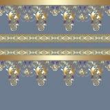 Cinza floral sem emenda do teste padrão do laço Foto de Stock