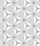 Cinza magro trefoils e triângulos pequenos chocados Imagem de Stock Royalty Free