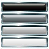 Cinza metálico longo ilustração stock