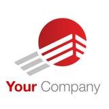 Cinza vermelho do logotipo Fotografia de Stock