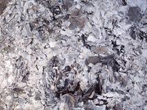 Cinzas e cinzas do papel do dinheiro do fantasma que queima-se para o antepassado no ano novo chinês imagem de stock