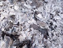 Cinzas e cinzas do papel do dinheiro do fantasma que queima-se para o antepassado no ano novo chinês foto de stock