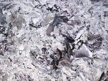 Cinzas e cinzas do papel do dinheiro do fantasma que queima-se para o antepassado no ano novo chinês fotografia de stock royalty free