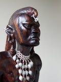 Cinzeladura africana da madeira Imagens de Stock