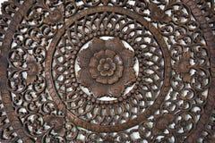 Cinzeladura antiga da madeira fotos de stock