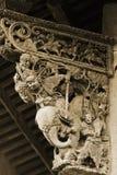 Cinzeladura chinesa da madeira foto de stock royalty free
