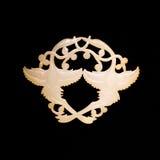 Cinzeladura chinesa do jade Imagens de Stock Royalty Free