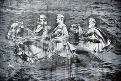 Cinzeladura confederada na pedra imagens de stock