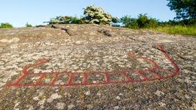Cinzeladura da rocha do navio Imagens de Stock