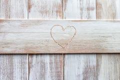 Cinzeladura dada forma coração Fotos de Stock
