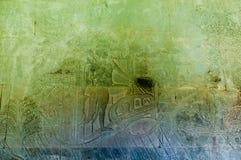 Cinzeladura de Angkor Wat Foto de Stock Royalty Free