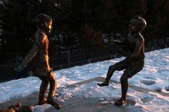 Cinzeladura de bronze Fotografia de Stock