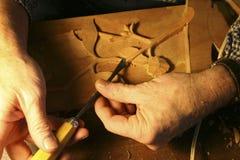 Cinzeladura de madeira Fotografia de Stock