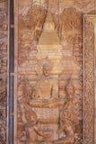 Cinzeladura de madeira da Buda Imagens de Stock Royalty Free