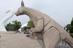 Cinzeladura de pedra da canguru-pedra Fotografia de Stock Royalty Free