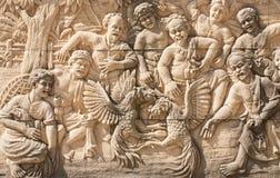 Cinzeladura de pedra da cultura tailandesa Fotografia de Stock Royalty Free