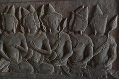 Cinzeladura de pedra de Angkor Wat Fotografia de Stock