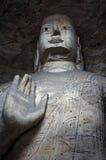 Cinzeladura de pedra de grottoes de Yungang foto de stock