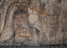 Cinzeladura de pedra do leão antigo em Polonnaruwa, Sri Lanka Imagens de Stock
