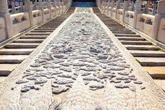 Cinzeladura de pedra do museu do palácio cena-grande Fotos de Stock