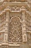 Cinzeladura de pedra em Jami Masjid (mesquita), chapaner, Gujarat Foto de Stock