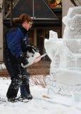 Cinzeladura do gelo Imagem de Stock