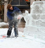 Cinzeladura do gelo Foto de Stock Royalty Free