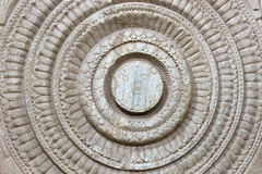 Cinzeladura do projeto de Lotus Imagem de Stock