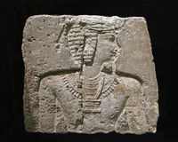 Cinzeladura egípcia antiga da parede Foto de Stock