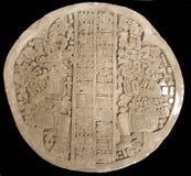 Cinzeladura maia antiga Imagem de Stock Royalty Free