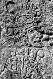 Cinzeladura maia do guerreiro Fotografia de Stock Royalty Free