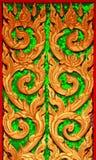 Cinzeladura tailandesa tradicional da arte do estilo Imagem de Stock