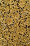 Cinzelando a flor na porta Imagem de Stock Royalty Free