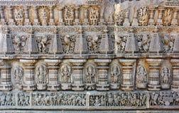 Cinzelando no templo de Keshava, Mysore Imagem de Stock Royalty Free