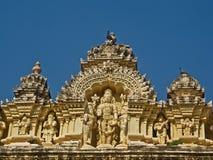 Cinzelando no templo de Ranganatha Swamy, Mysore Fotografia de Stock Royalty Free
