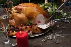 Cinzelando o Natal rústico Turquia do estilo Foto de Stock Royalty Free