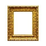 Cinzelando o quadro de madeira ornamentado no branco Fotos de Stock