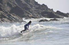 Cinzelar na praia de LaPush vestiu-se para o quarto de julho Imagem de Stock