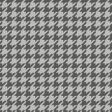 Cinzento do teste padrão sem emenda de Houndstooth e branco escuros ilustração do vetor