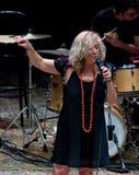 Cinzia Spata au jazz de l'Ombrie Images libres de droits