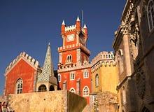 Cio DA Pena, un castillo del ¡de Palà del palacio de Pena del Romanticist en Sintra fotografía de archivo libre de regalías