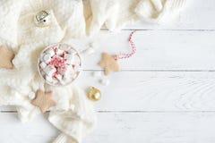 Cioccolata calda della menta piperita fotografie stock
