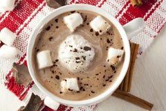 Cioccolata calda gastronomica Fotografia Stock Libera da Diritti