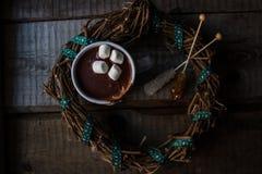 Cioccolata calda in una tazza Immagini Stock Libere da Diritti