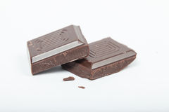 Cioccolato affettato Fotografia Stock Libera da Diritti